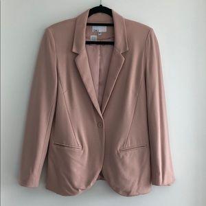 Cream/light pink blazer